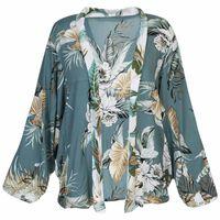 Cadence Short Batwing Kimono -  green-milk