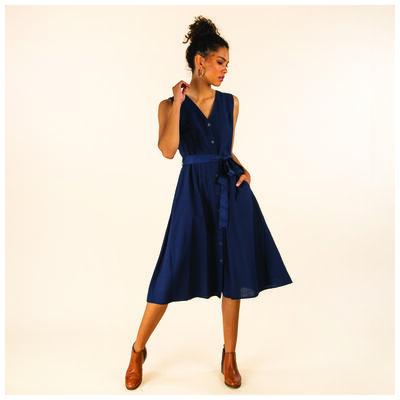 Sora Fit & Flare Linen Dress