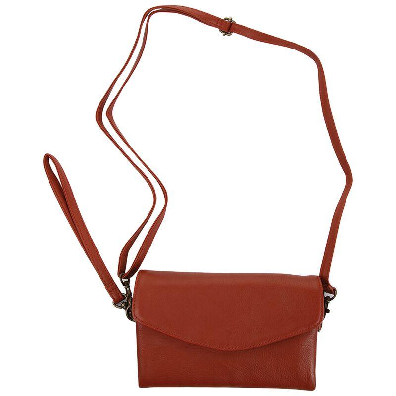Billie Cross Body Leather Bag -  rust