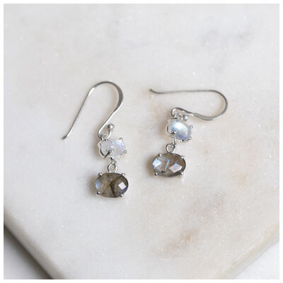 Sterling Silver & Labradorite Drop Earrings