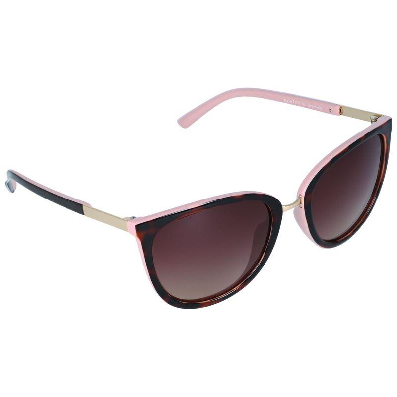 Polarised Catseye Sunglasses -  brown-palepink