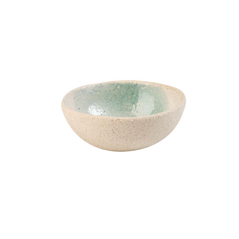 Light Blue Textured Snack Bowl  -  blue