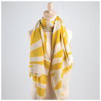 Joselyn Striped Scarf -  yellow-milk