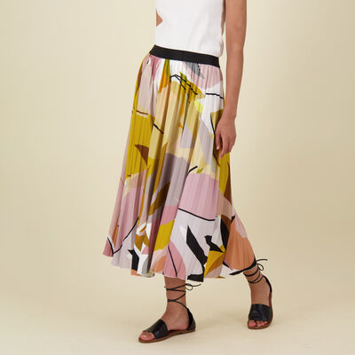 Jemma Printed Pleat Skirt