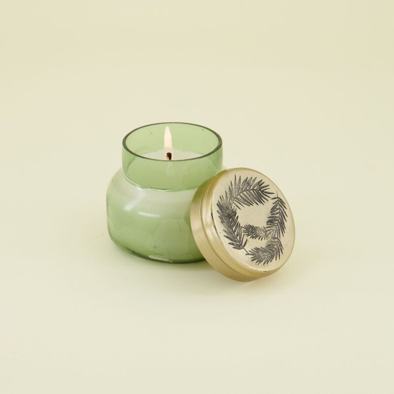 Pearlized Candle in a Jar -  darkgreen-gold