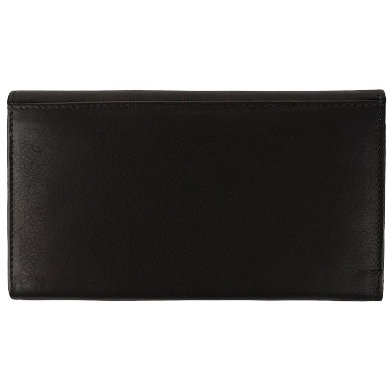 Sonia Structured Leather Wallet -  black-black