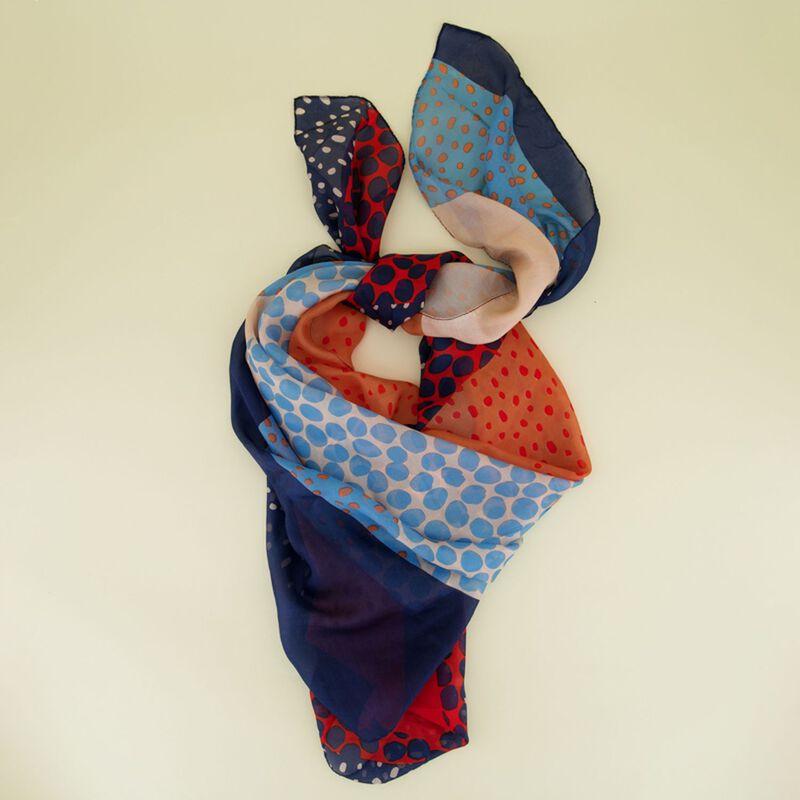 Cercei Landscape Print Silk Scarf -  dc9900