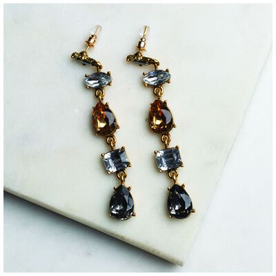 Linear Dangly Drop Earrings