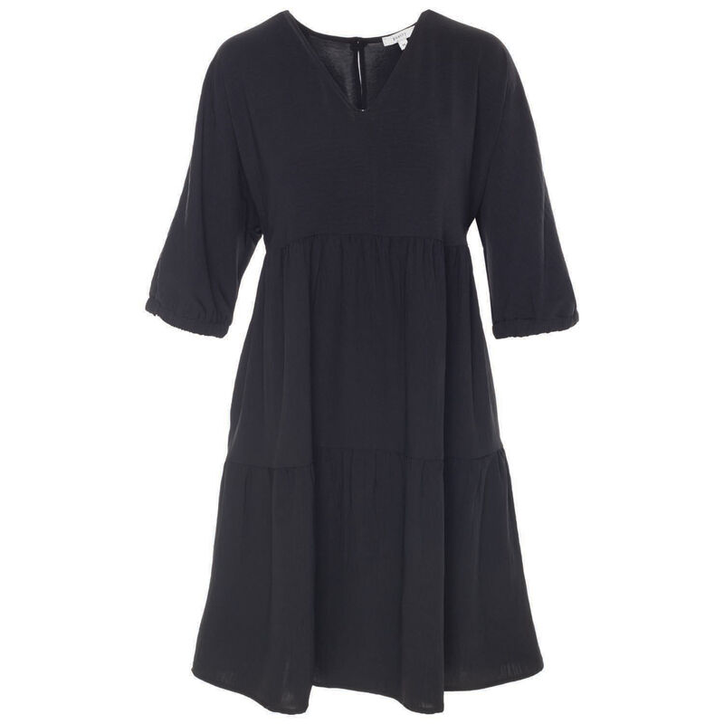 Cher Printed Dress -  black