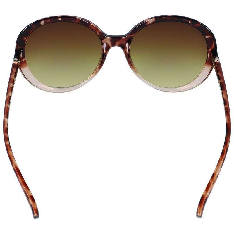 Classic Oversized Round Sunglasses -  brown-gold