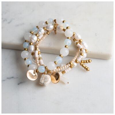 Freshwater Pearl & Bead Bracelet Set
