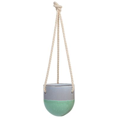 Small Green Ombre Hanging Planter