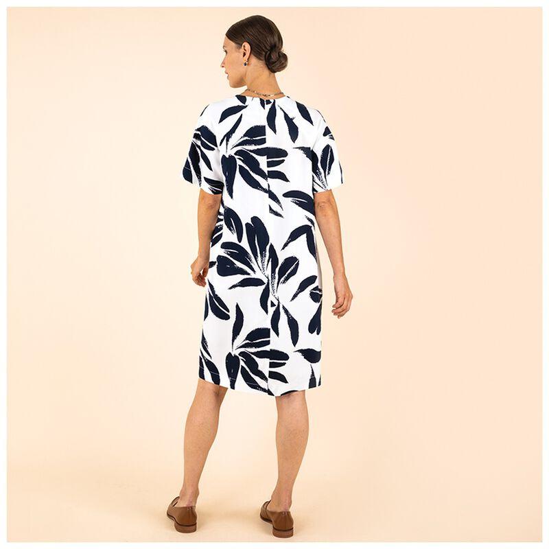 Isha Geo Printed Dress -  navy