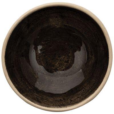 Wonki Ware Jocelyn Solid Black Salt Pinch Pot