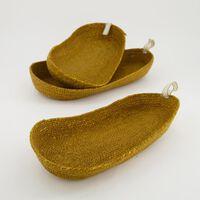 Three-Piece Natural Long Basket Set -  oatmeal
