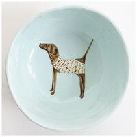 Gemma Orkin Pale Blue Pointer Dog Medium Bowl -  lightblue
