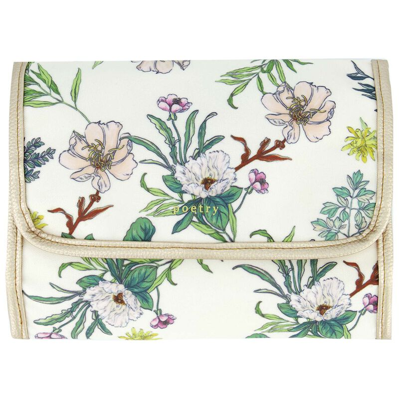 Estelle Roll-Up Cosmetic Bag -  green-milk