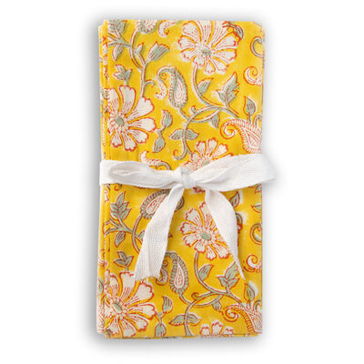 Ochre and Grey Napkin Set