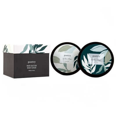 Willow Moss Body Butter & Scrub Gift Set