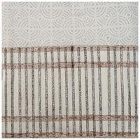 Grid Greys Tablecloth -  grey-white