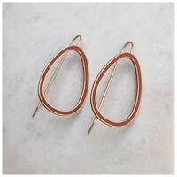 Geometric Drop Earrings -  rust-gold