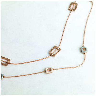 Geo Disk Multichain Necklace