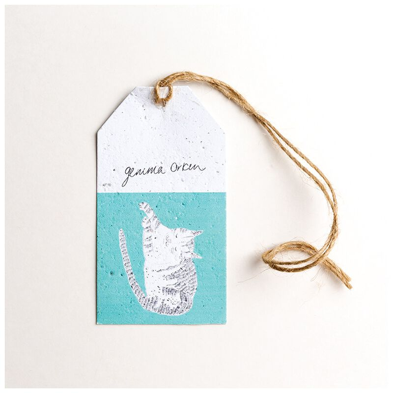 Gemma Orkin Turquoise Cat Tag -  turquoise