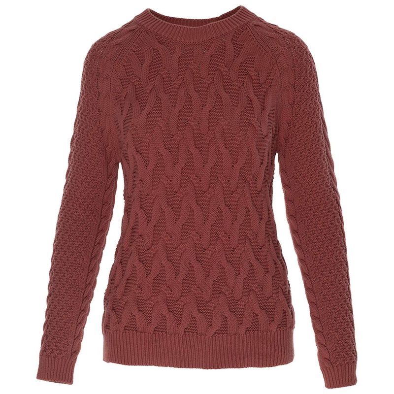 Heidi Cable Pull Over -  pink
