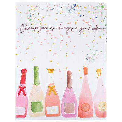 Champagne is Always a Good Idea Tea Towel