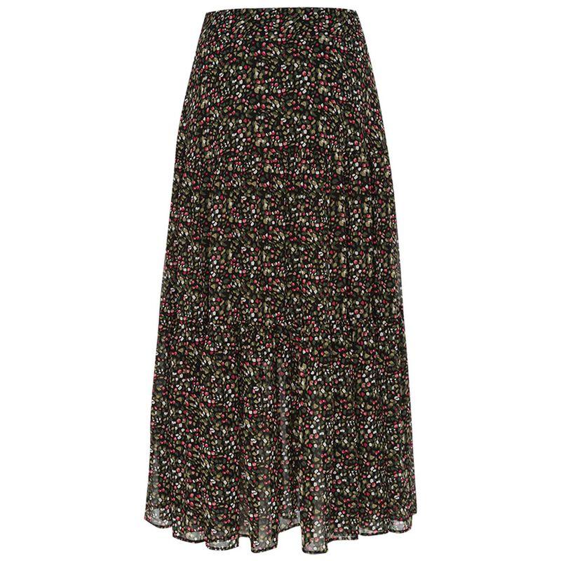 Cassandra Printed Skirt -  green