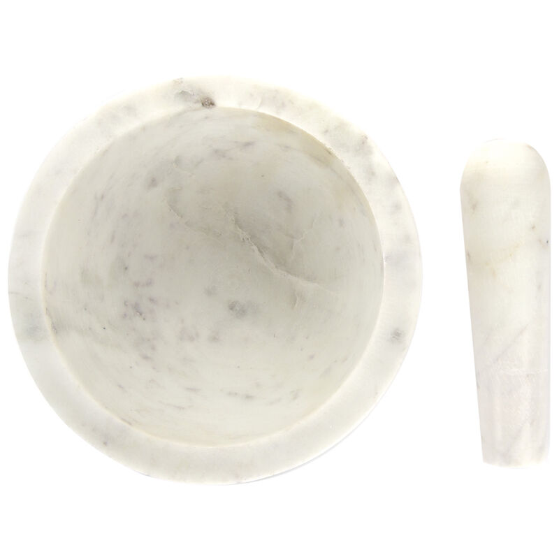 White Marble Pestle & Mortar Set -  white