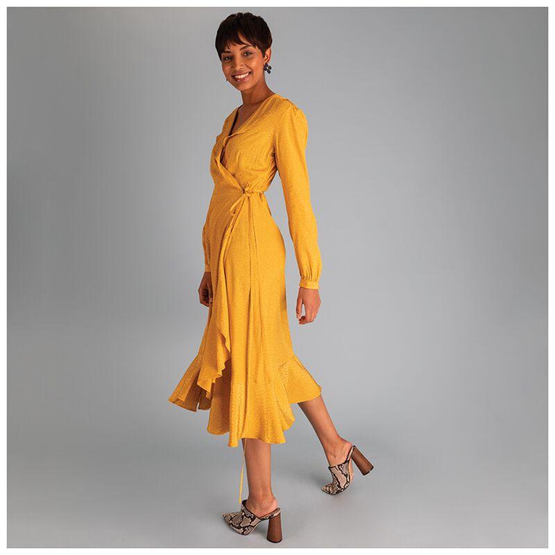Topaz Wrap Maxi Dress -  yellow