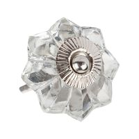 Flower Glass Knob -  assorted