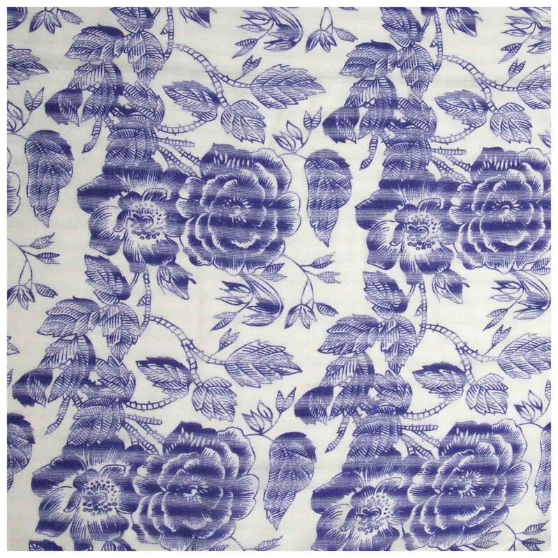 Pipper Floral Scarf -  blue-milk