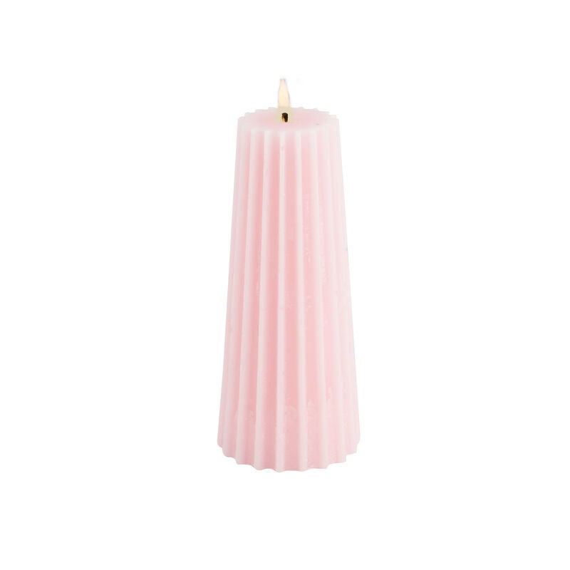 Small Light Pink Gear Candle -  lightpink