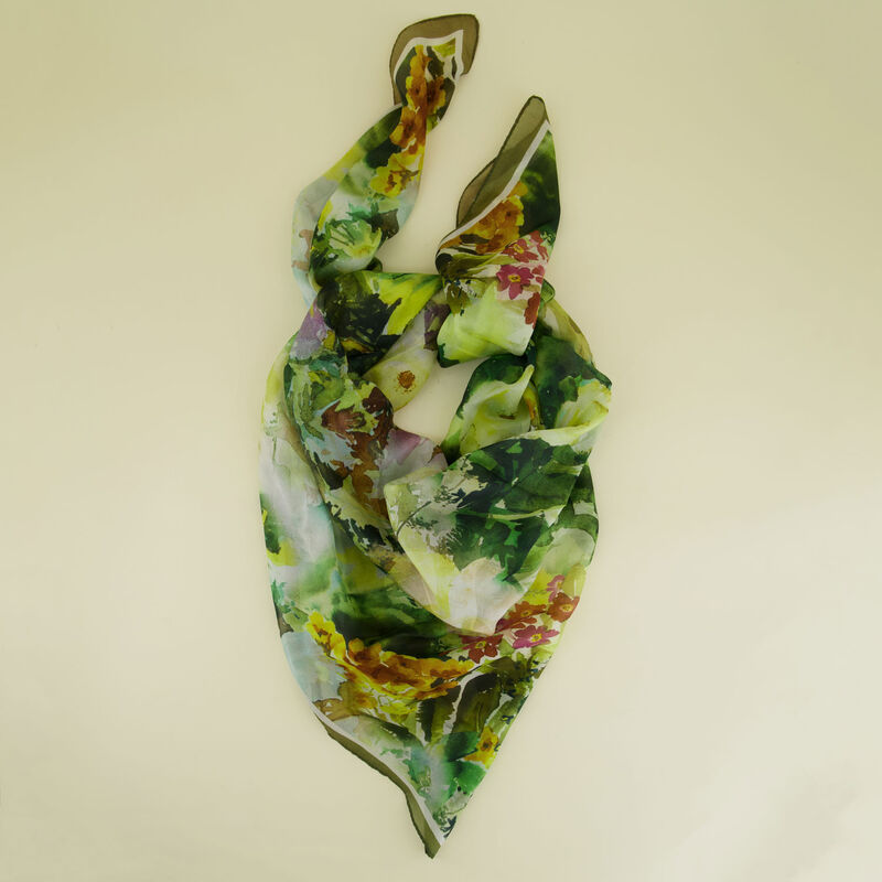Cohen Watercolour Silk Scarf -  c99