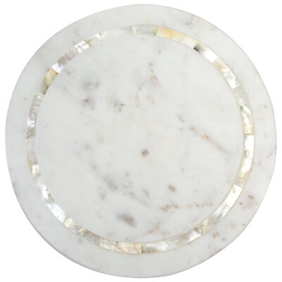 Round White Marble Serving Board
