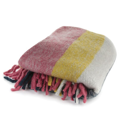 Multi-Coloured Striped Throw