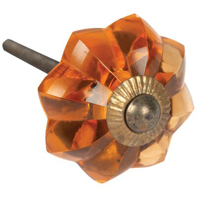 Amber Glass Knob