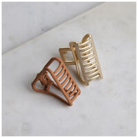 Minta 2-Pack Bulldog Clips -  rust-gold