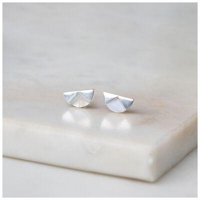 Moonstone & Sterling Silver Halfmoon Earrings