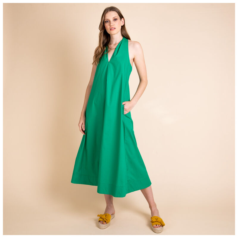 Presleigh Trapeze Dress -  green