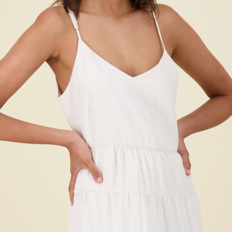 Blake Tier Dress -  bone