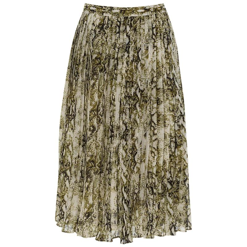 Kensington Pleated Skirt -  stone