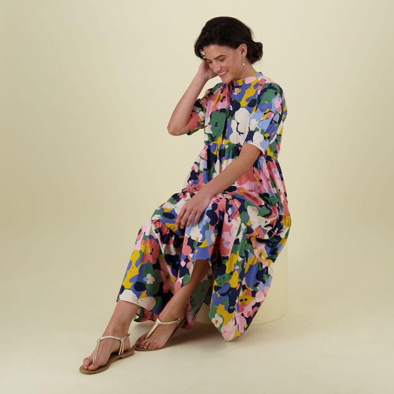 Kamilla Printed Dress -  pink
