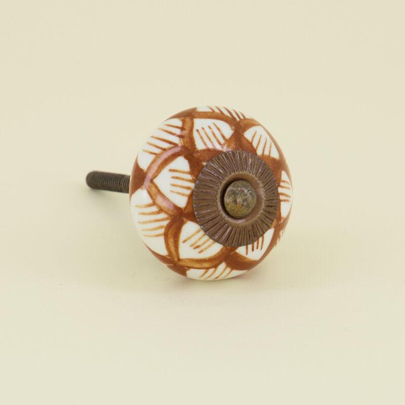 Desert Flower Knob -  rust-white