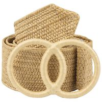 Daleyza Straw Belt -  oatmeal