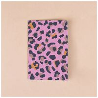 Pink Animal Print Card -  pink-black