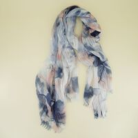 Elizna Watercolour Textured Scarf -  dc5433