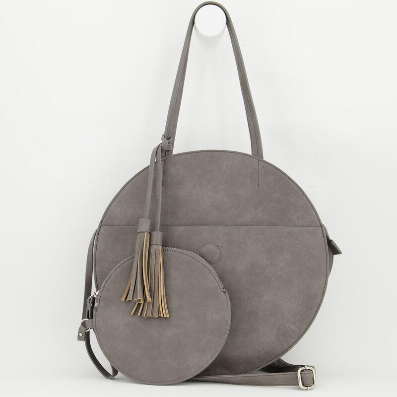 Angelina Vegan Leather Round Bag -  c07